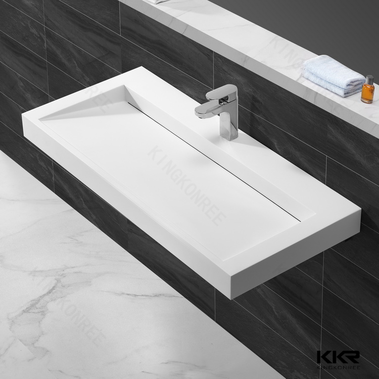 Solid Surface One Piece Bathroom Sink With Countertop Product On Alibaba