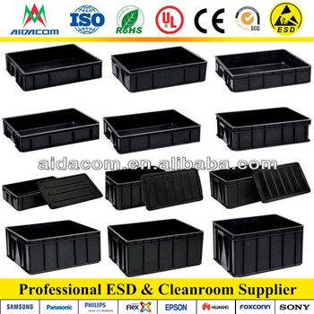 ESD Box factory conductive Black ESD circulating box