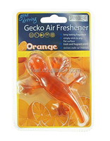 Gecko car Air Freshener,PVC Raw Material car care Hanging perfumes