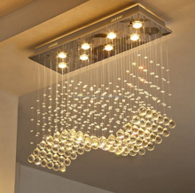 Wholesale e14 crystal chandelier fancy crystal light rectangle designer pendant light