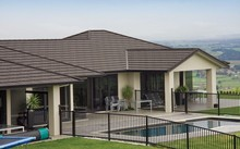 bitumen Stone coated metal roof tile- classical 7 waves