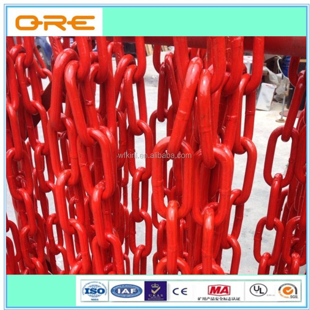 Welded color painted steel lashing chain