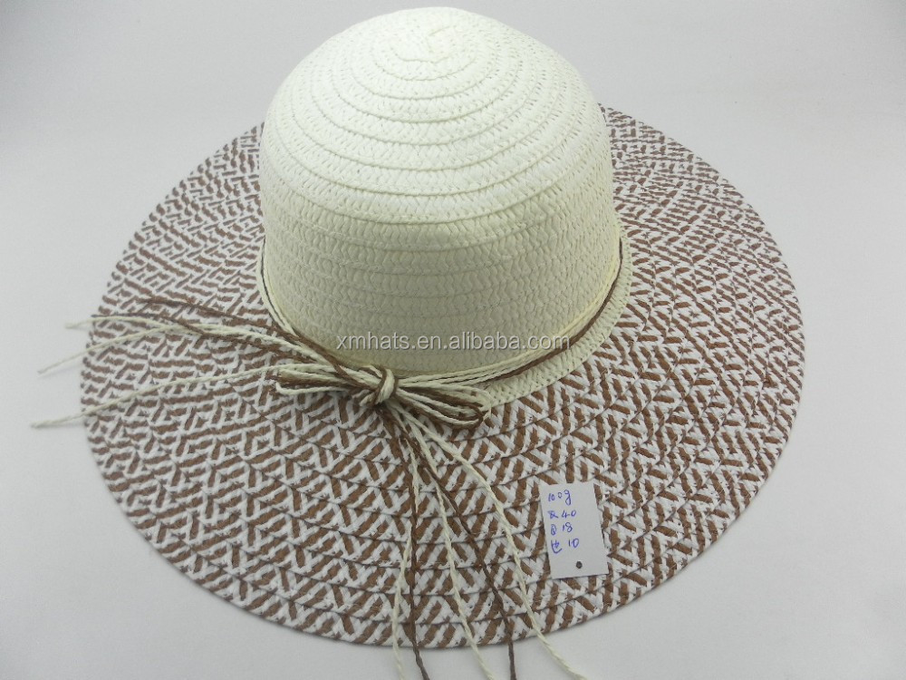 Cheap price custom hotsale wide brim sombrero straw hat for lady