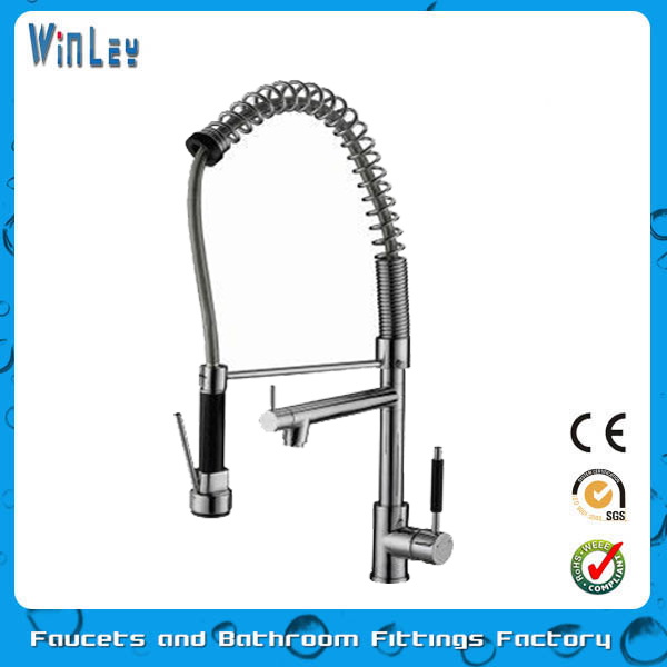 2016 New Single Handle Pull Out Kitchen Tap