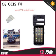 RFID UHF Rugged Android Mobile Phone With Built in Printer For Vehicle Scanner Project