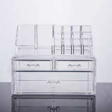 2017 Clear 3 drawers Acrylic Makeup Cosmetics/acrylic makeup organizer drawers clear cube cosmet/acrylic makeup organizer tray