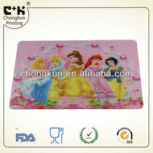 plastic Placemat for children and kids plastic table place mat