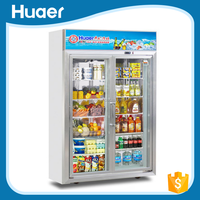 Hot Sale Double Door Refrigerator Dimensions/ Display Refrigerator