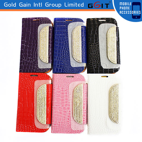 For samsung S3 Diamond Case, i9300 Diamond Flip Cover, s3 case with Diamond