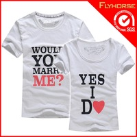 love couple 100% cotton t-shirt for customer design