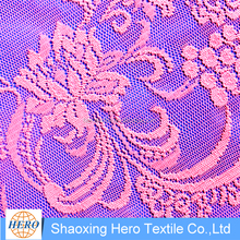 Mesh 100% polyester knitted nigerian lace, beaded nigeria guipure lace fabric