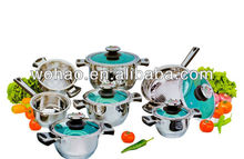 12pcs stainless steel apple cookware pot