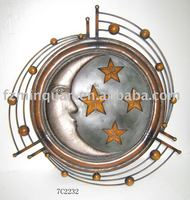 Circle moon and stars wall decor
