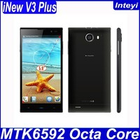 Original iNew V3 plus Octa Core 3G GPS phone Android 4.4.2 phone 2G RAM 16GB ROM 5 inch HD OTG 13MP Camera gift case
