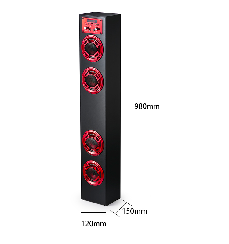 2018 Hot sell home karaoke wireless tower speakers with floor standing