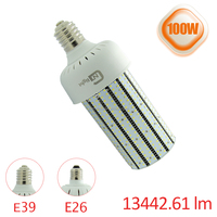 90-277v e26 e39 base long lifespan design ul led light corn light bulb 100w led bulb