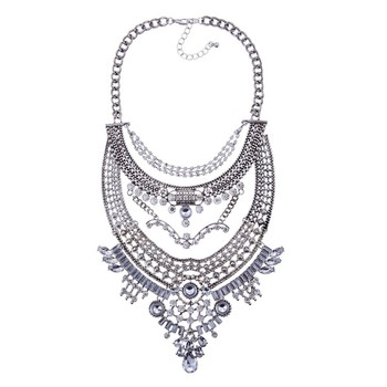 NEW design 2015 jewelry high fashion designer replica jewelry large costume jewelry necklace