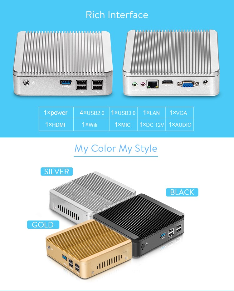 n2810 n2830 can be option x30 mini computer for Internet bar high quality of gaming PC support playing HD movies
