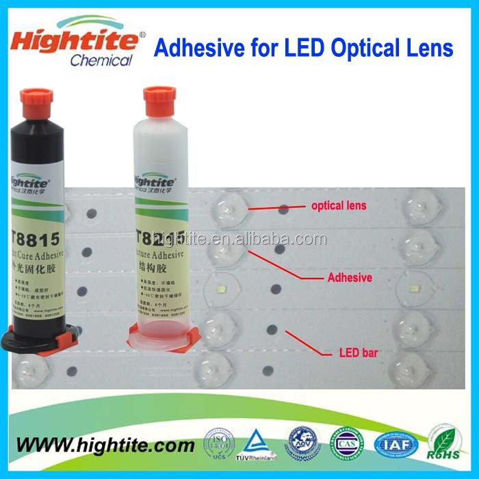 LED back light lamp with lens bonding adhesive