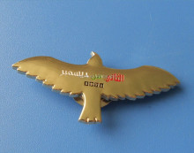 UAE new gold plated eagle for 45 UAE national day