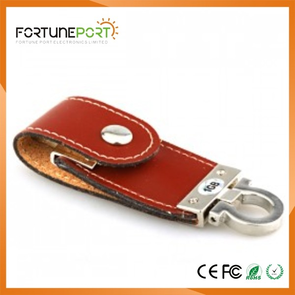 Leather Pen Drive Bulk Items With Custom Logo USB Flashdrive For Promotion Events