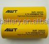 Good quality 3.7V AWT li ion rechargeable battery 26650 4500mah 75A battery 12v 3000ah for gang mod clone 12v 72ah Battery