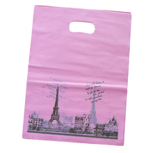 Custom design fashion shopping bags plastic packaging bags for clothes