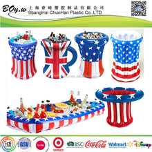 EN71 factory USA flag ice cooler pvc inflatable buffet and salad serving bar