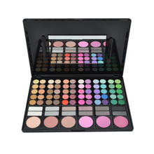 ODM 78 colors eyeshadow palette no label makeup private label <strong>cosmetics</strong>