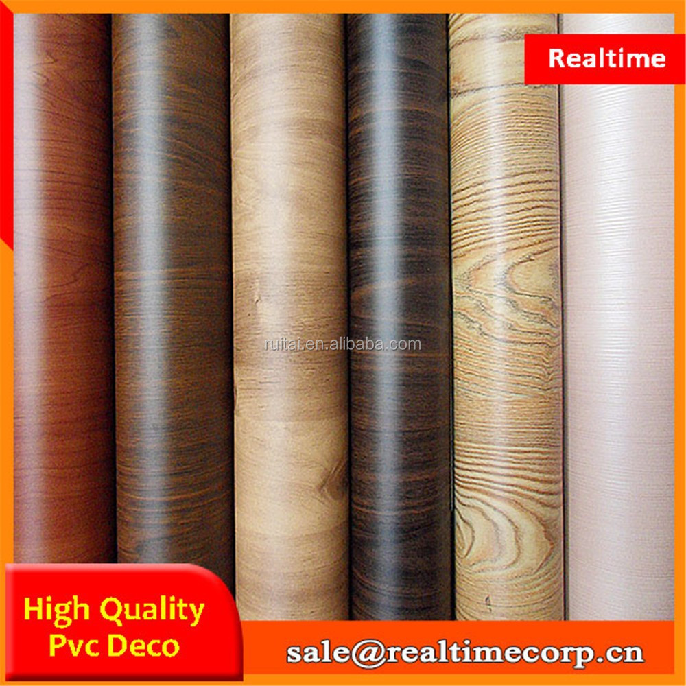 high gloss wood grain rigid pvc film