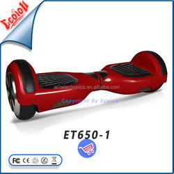 China red 2 wheel electric scooter drifting on the road