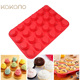 Non-stick Silicone Cupcake Baking Pan 24 Cavity Easy to Clean FDA Approved Bakeware
