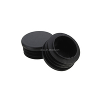Silicone rubber end cap for curtain rod and hose