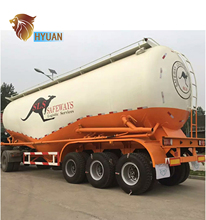 HYUAN 3 Axles Bulk Cement Tanker Semi Trailer bulk cement truck calcium aluminate cement for sale