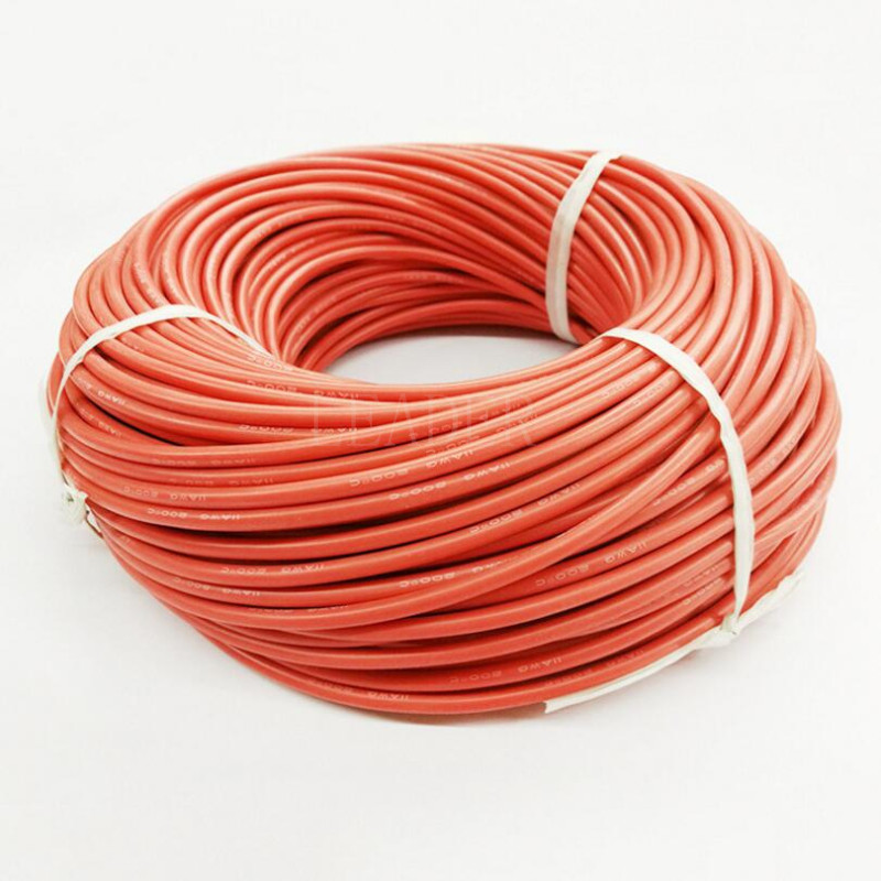 100 meters/roll 10AWG High Temperature Silicone <strong>Wire</strong> Cable/ Silica Gel <strong>Wire</strong>/ Silicone Tinned Copper Cable Black/Red