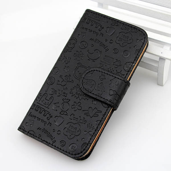 Hottest flip leather case for iphone 5 mobile phone accessory