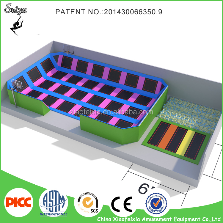 Professional Manufacture Trampoline Park Equipment With safety Net