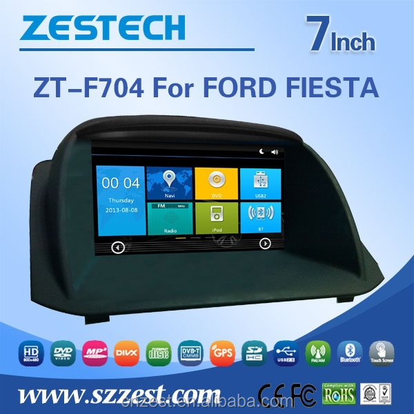 for Ford FIESTA double din car dvd player with dvd gps navigation
