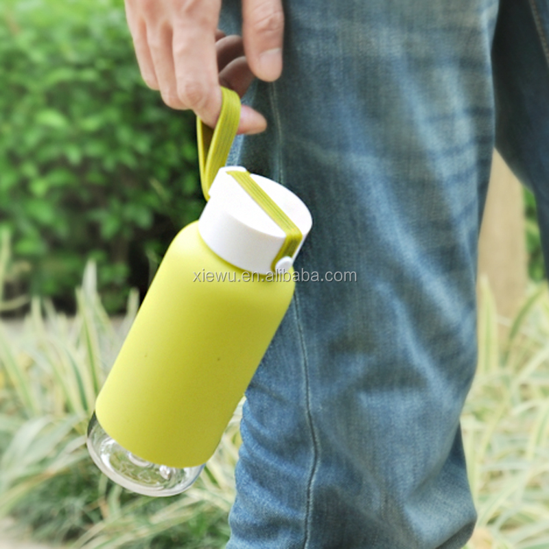 400ml HOT Plastic Sport Water Bottle Silicone glove