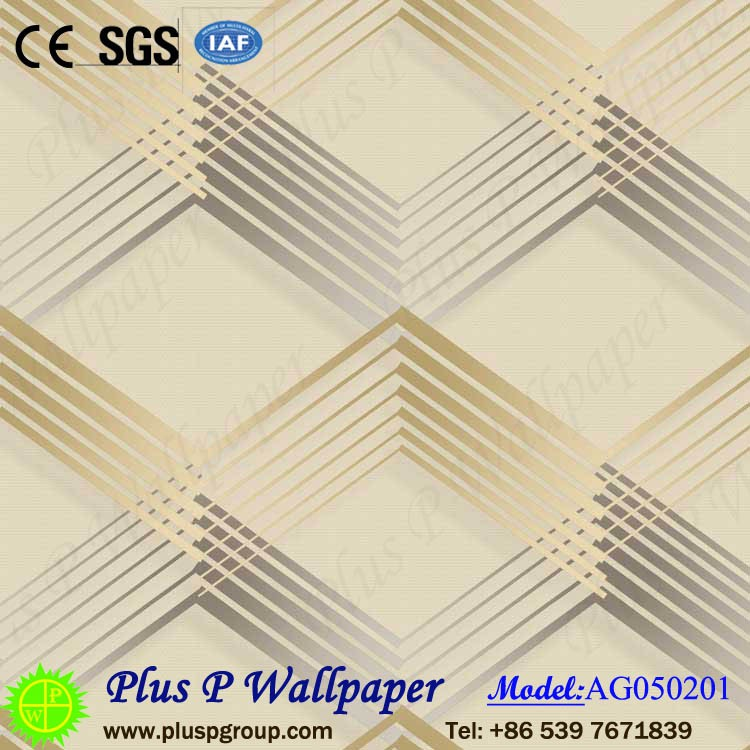 Plus P Factory Manufacture Simple design PVC/Vinyl /Wallcoverings /Wallpaper