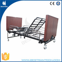 BT-AE032 China hospital furniture manufacturer CE ISO wood electric home care five functions bed
