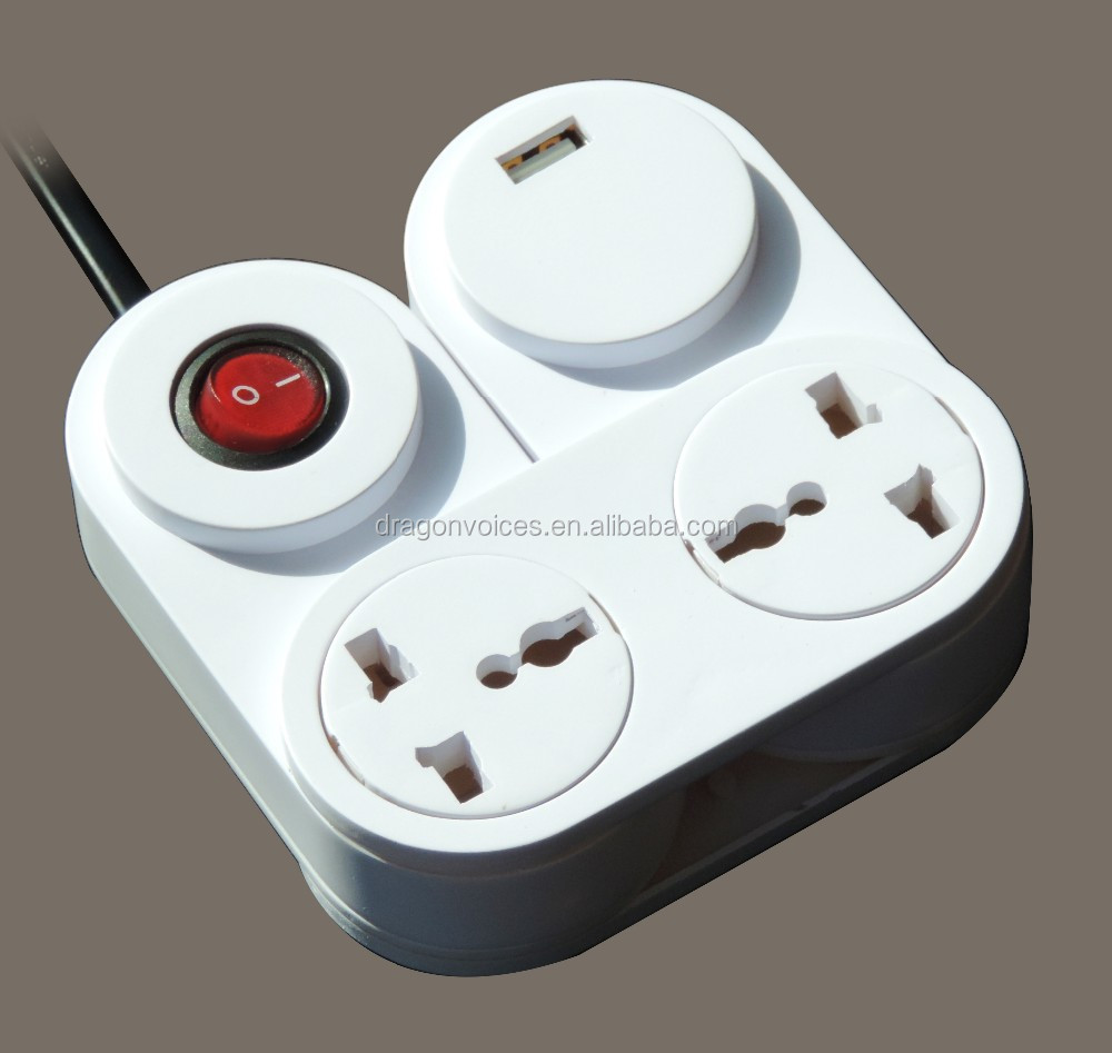 2way bending pivoting power strip 360 degree Flexible Rotating extension <strong>plug</strong> and socket