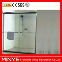 bathroom sliding glass interior door with safety