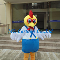 Factory direct sale customized soft plush china chicken adults cartoon costume for holiday