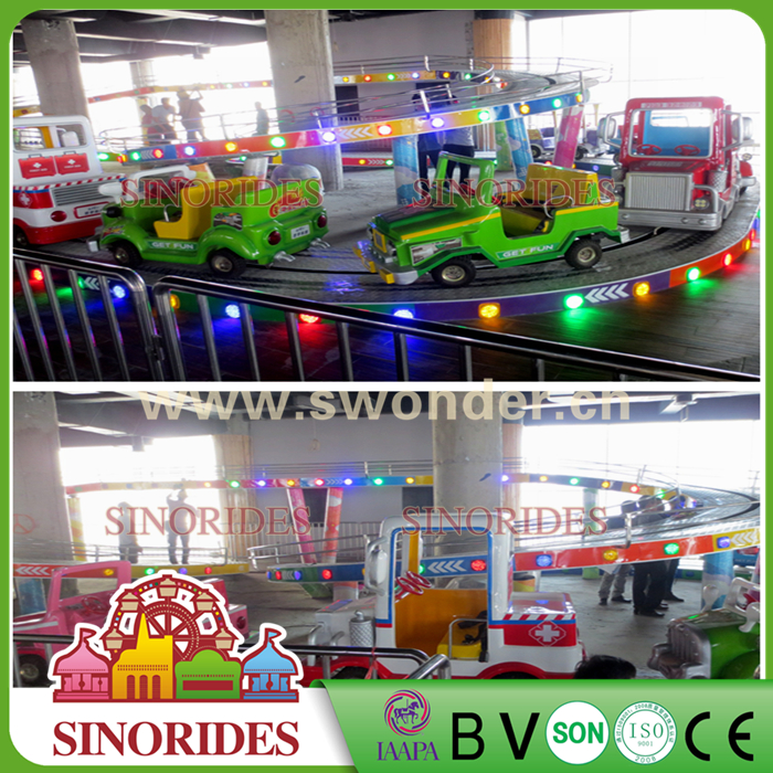 SINORIDES 20 Seats Amusement Rides Mini Shuttle Coaster Electric Mini Bus for Kids