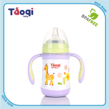 2015 baby drinking bottle stainless steel feeding bottle