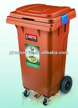 120L plastic waste container with water valve garbage bin