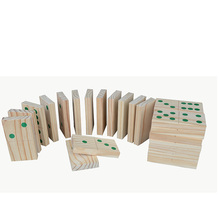 Customize size and color children wooden domino dice game toy