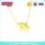 Delicate Dainty Initial Animal Elephant 18K Gold Choker Necklace