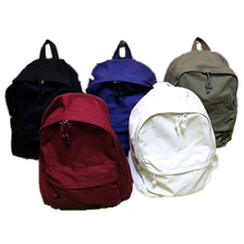 Solid color canvas Japan Korea style students school bag